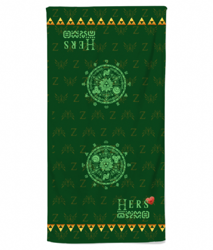 His or Hers Legend of Zelda Triforce Symbol Retro Gaming Inspired Beach Towel